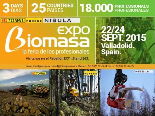Expo 2015 Stand Enel : Expo biomasa 2015 toimil grúas